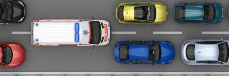 חוקי תעבורה בכביש בעת מעבר אמבולנס